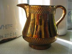 Copper Lusterware Pitcher Fine China, Luster, Bristol, Overlays, Icing, Porcelain, Copper, Shades, Ceramics