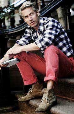 Macho Moda - Blog de Moda Masculina: Looks com Calça Vermelha Masculina, pra inspirar!