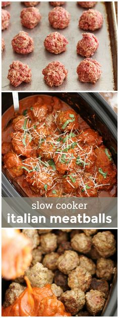 Slow Cooker Italian Meatballs -- easy to prepare, freezer-friendly and perfect for any occasion! girlversusdough.com @girlversusdough