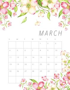 We are thrilled today to roll out another Free Printable 2019 Calendar! Today we have a Free Printable 2019 Floral Calendar that we hope you love! Calendar March, Photo Calendar, Calendar 2018, Calander Printable, Planning Annuel, Calendar Wallpaper, Iphone Wallpaper, Wall Calendar Design, Planners