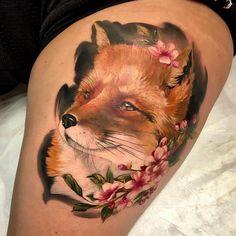Fox Tattoos, Real Tattoo, Animal Species, Tattoo Ideas, Style, Swag, Stylus, Outfits