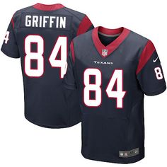 fd618731 Nike Elite Ryan Griffin Navy Blue Men's Jersey - Houston Texans #84 NFL Home