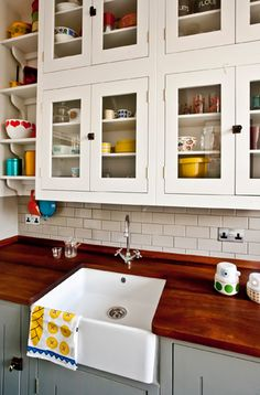 cupboards * sink * countertops