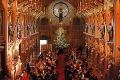Christmas dinner at Windsor Castle 2011. Windsor Castle is open to the public when the Queen is not at home, a memorable place to visit