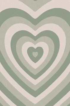 sage green heart indie wallpaper