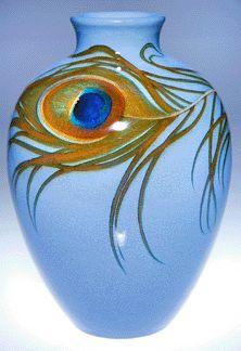 Art Nouveau peacock feather by Carl Schmidt