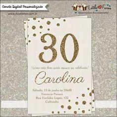 Convite Aniversário 30 anos para imprimir