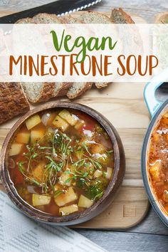 Warm up with goodness with our Vegan Minestrone Soup.