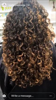 Curly hair highlights curly hair tips, ombre curly hair, colored curly hair, highlights Curly Hair Tips, Long Curly Hair, Wavy Hair, Dyed Hair, Curly Hair Styles, Natural Hair Styles, Thick Hair, Colored Curly Hair, Hair Color For Black Hair