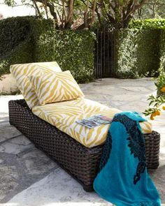 """""""Zebra"""" Outdoor Chaise - Horchow"""