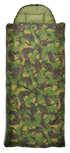Chinook Huntsman Hooded Rectangular Synthetic -22-Degree Sleeping Bag, Camouflage, X-Large * Read more reviews of the product by visiting the link on the image.