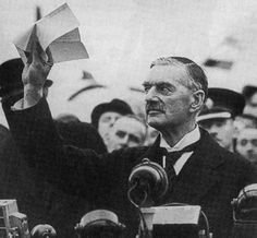 """After three diplomatic shuttles to Germany, British prime minister Neville Chamberlain, 69, returned home on Sept 30, 1938 to say he had secured """"peace in our time."""" The cost: ceding Czechoslovakia to Hitler without a fight. His policy, labeled appeasement by critics, staved off war for just 11 months."""