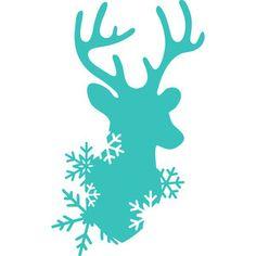 Silhouette Design Store - View Design #162733: snow deer