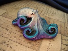 Silver Octopus by PurplecatCreatives on Etsy