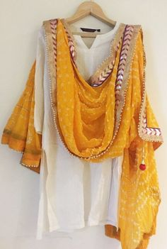 Indian Traditional Dupatta yellow Color silk Rajasthani Bandhani Print Dupatta with gotta pati Border For Women/Girls 100% Brand new and High quality scarf Suitable for personal wearing or gift ideal for friends and your love one. Great to match any fashion style. Color: yellow scarf Color Fabric: