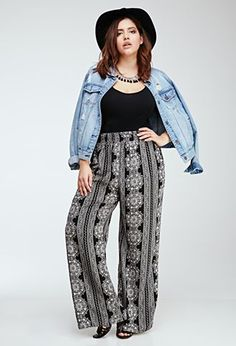 Palazzo Pants for Plus Size–24 Palazzo Outfit Ideas for Curvy Girls