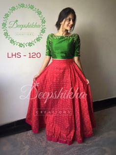 faccaaecf6 long skirt and top · More Lehenga Crop Top, Blue Lehenga, Saree Blouse  Designs, Dress Designs, Choli