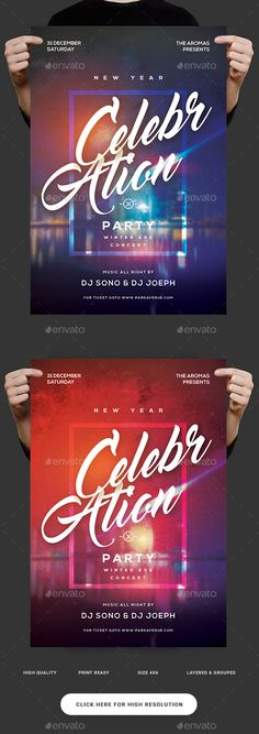 New Year Celebration Party — Photoshop PSD #anniversary party #poster • Download ➝ https://graphicriver.net/item/new-year-celebration-party/19168982?ref=pxcr