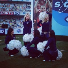St Louis Rams cheerleaders on Soccer AM
