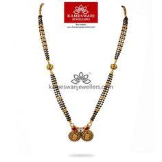 Gold Mangalsutra Designs, Gold Jewellery Design, Bead Jewellery, Gold Jewelry, Gold Necklaces, Beaded Jewelry, Bridal Jewellery Online, Bridal Jewelry, Black Diamond Chain