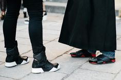 Street Style MFW FALL 2015/2016 Uggly shoes