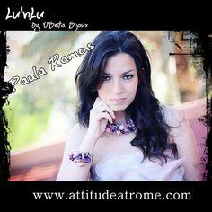 Blogger Paula Ramos with the set of Lu'nLu. Good looking  stylelovely.com/attitudeatrome/2012/04/lunlu-by-dbeitia-bijoux