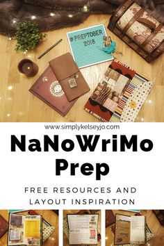 NaNoWriMo Prep Free Resources and Bullet Journal Layout Inspiration #bulletjournal #bujo #bujoinspo #travelersnotebook #nanowrimo #writing #writingtips #preptober