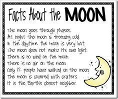 Moon facts for kids homework desks