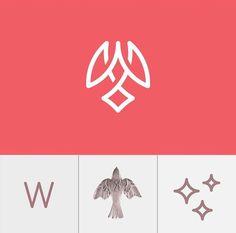 62 Ideas Bird Logo Design Inspiration Simple For 2019 Graphic Design Posters, Graphic Design Typography, Graphic Design Illustration, Branding Design, Angels Logo, Learning Logo, Bird Logos, Geometric Logo, Logo Concept