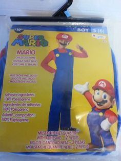 Disguise Nintendo Super Mario Brothers Classic Boys Costume Small 6 No  Mustache. Video Game ...