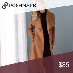 Central Park Coat | Camel *LAST 1! ◽️The Central Park Maxi Wrap Coat is stylish and warm for the cold weather! Absolutely love this! Features a chic dramatic collar ❤️, 2 front pockets, waist belt that gives an hourglass shape. Fully lined. High quality, heavy, not itchy. Poly/rayon. Color is camel. A gorgeous neutral. Also in Black. Wearing with my Classic Midi.  ▫️Sizes:  L - last 1! (can also fit an M) ▫️I am modeling S + am 112 lb. Fitted style - see measurements, size up if between…