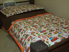 Construction Crib or Toddler Bedding Set 3 by taramcwilliams, $120.00