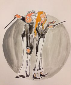Illustratie muziekschool, Esther Eggink