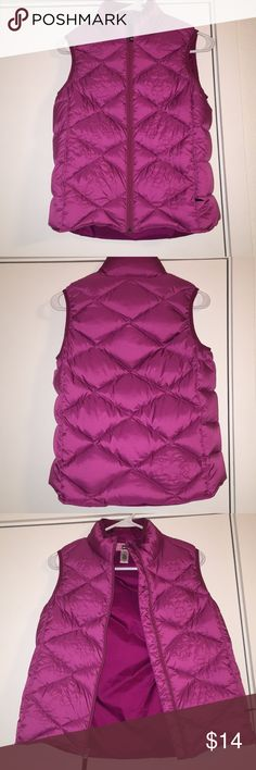 REI™ Burgundy Puffy Vest Burgundy Vest Puffy Zips Up Flower Details Excellent Condition Perfect for Keeping Your Child Cozy!  Feel free to make an offer! REI Jackets & Coats Vests