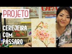 PROJETO | PINTURA COM STENCIL - CEREJEIRA COM PÁSSARO | 13.04.17 | MAYUMI TAKUSHI - YouTube