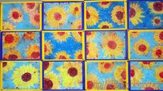 Sunflower Batik from KidsArtists blogspot. Cool Project to try out!