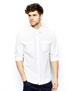 ASOS Military Shirt In Long Sleeve