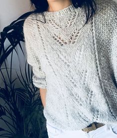 Pull Caeli pattern by pimpro Inspiré d'un pull New Look A/H 2018 lace knit sweater pattern free Lace Knitting Stitches, Lace Knitting Patterns, Knitting Designs, Free Knitting, Knitting Sweaters, Scarf Patterns, Knitting Tutorials, Lace Patterns, Stitch Patterns