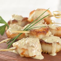 scallops and ginger sauce