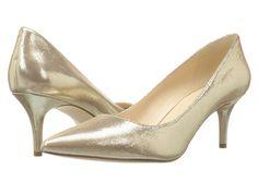 Nine west margot gold metallic 1 Pink Blue Weddings, Bridesmaid Shoes, Bridesmaids, Go Pink, Wedding Looks, Discount Shoes, Nine West, Kitten Heels, Pumps