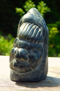 A personal favorite from my Etsy shop https://www.etsy.com/ca/listing/507355049/inuit-eskimo-steatite-carving-head