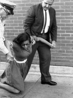 Patricia Stephens Due being arrested during 1963 demonstrations at Tallahassee's Florida Theater. Due later led black voter registration drives in North Florida for the Congress of Racial Equality. Patricia Stephens Due, was jailed for leading sit-ins, marches and other protests, making her one of the most prominent women at the vanguard of the civil rights movement of the 1960s. (Photo: Florida Photographic Collection)
