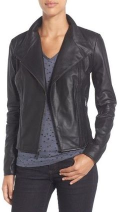 a92c3f782dba0 Andrew Marc Felix Stand Collar Leather Jacket