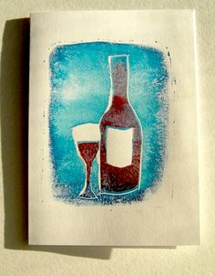 make your own stamps using gelatin