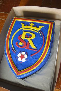 RSL Cake - Sugar - Cookies, Cakes and More: Soccer cake & cookies Soccer Cookies, Soccer Cake, Cake Cookies, Sugar Cookies, Birthday Fun, Birthday Ideas, Birthday Parties, Birthday Cake, Logos
