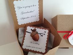 Another Nut to Our Tree- Pregnancy announcement, baby announcement, new baby, new parents, needle felted, on Etsy, $10.00