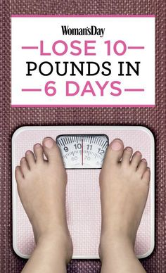 An Easy 6-Day Plan To Lose 10 Pounds - this actually has some really great meal ideas for when I need to mix things up a bit!