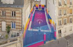 Dit basketbalveld in Parijs heeft een gigantische make-over gehad!