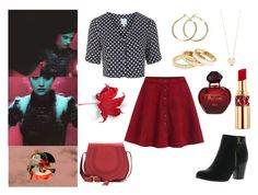 """""""I was Born to Save The Docor"""" by the-girl-in-the-red-dress ❤ liked on Polyvore featuring Topshop, Reneeze, Ginette NY, Reiss, Chloé, Yves Saint Laurent, Christian Dior, women's clothing, women's fashion and women"""