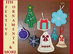 In The Hoop Festive Ornaments and More Machine Embroidery Designs http://www.designsbysick.com/details/festiveornaments
